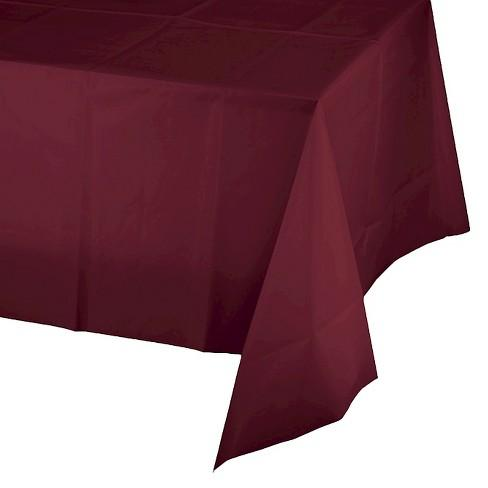 Plastic Tablecloth (Burgundy)-Palm & Pine Party Co.