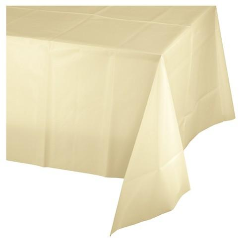 Plastic Tablecloth (Ivory)-Palm & Pine Party Co.