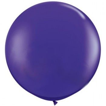 Jumbo Round Balloons 90cm (purple)-Palm & Pine Party Co.