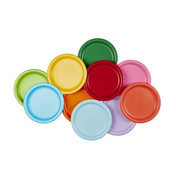 Rainbow Set Party Plates (large)-Palm & Pine Party Co.