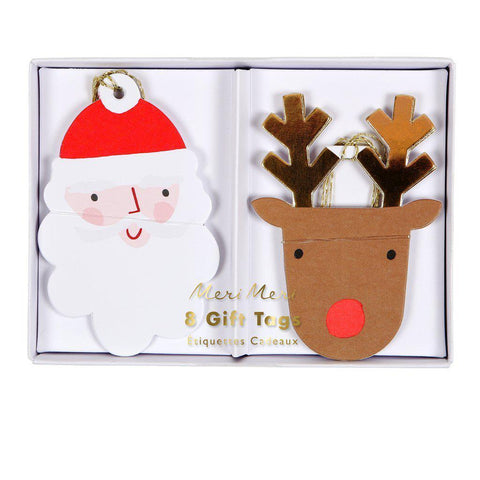 Santa and Reindeer Gift Tags-Palm & Pine