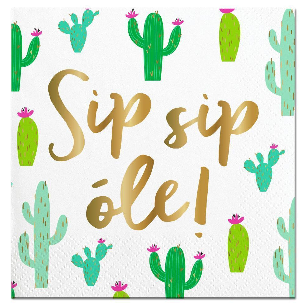 Sip Sip Ole Cocktail Napkins-Palm & Pine Party Co.