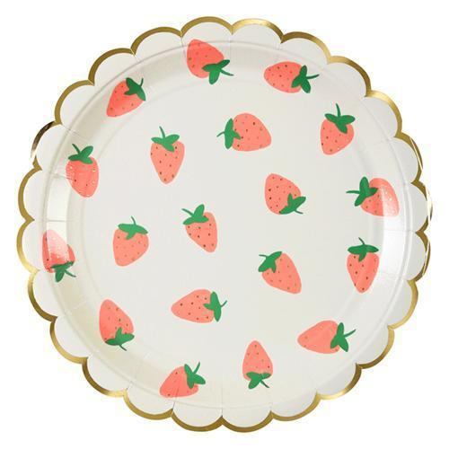 Strawberry Small Plates-Palm & Pine