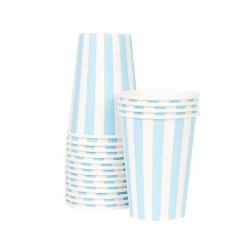 Stripe Party Cup (powder blue)-Palm & Pine Party Co.