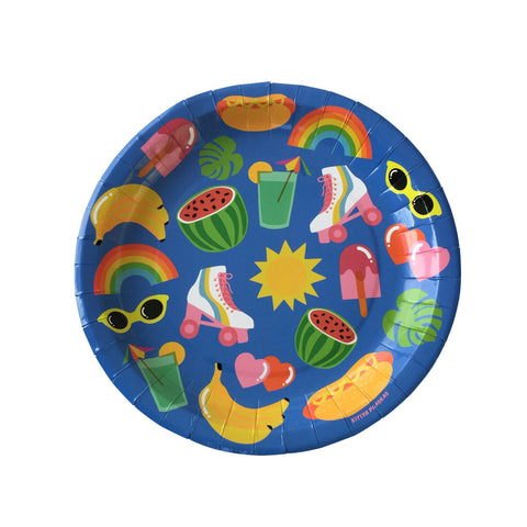 Summer Fun Party Plates-Palm & Pine
