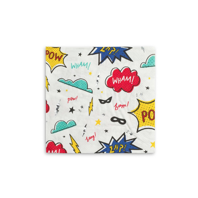 Superhero Napkins-Palm & Pine Party Co.