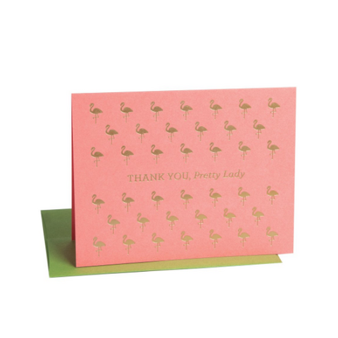 Thank You Cards - Box Set (flamingo)-Palm & Pine