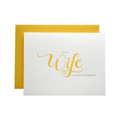 To My Wife Anniversary Card-Palm & Pine Party Co.