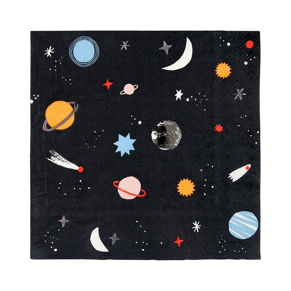To The Moon Space Napkins-Palm & Pine Party Co.