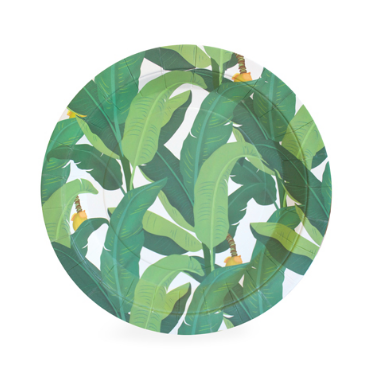 Tropical Leaf Dessert Plate-Palm & Pine Party Co.