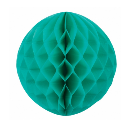 Turquoise Honeycomb Ball - 35cm-Palm & Pine Party Co.