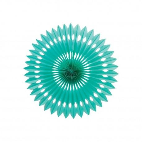 Turquoise Honeycomb Fan (24cm)-Palm & Pine Party Co.