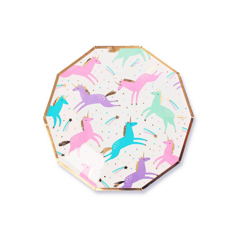 Unicorn Plates-Palm & Pine Party Co.
