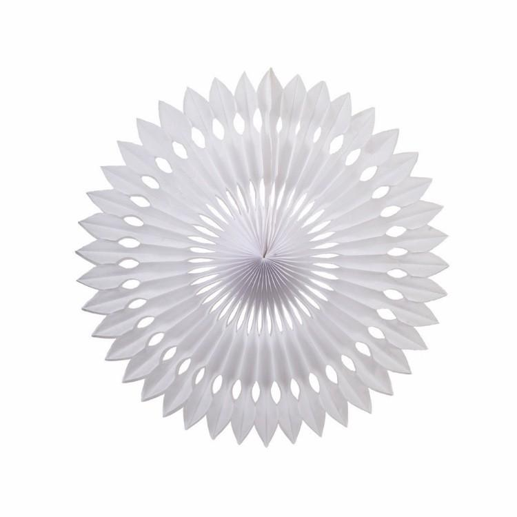 White Honeycomb Fan (24cm)-Palm & Pine Party Co.