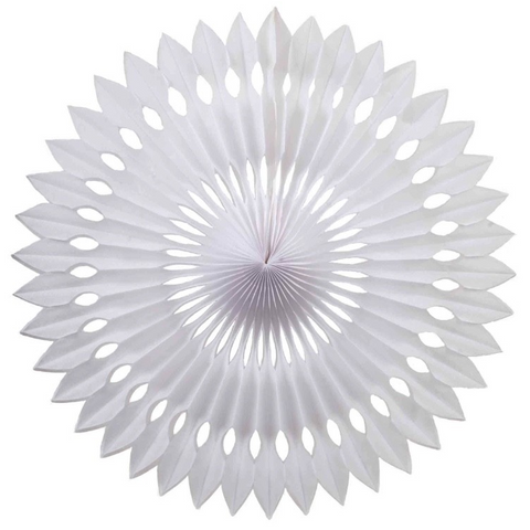 White Honeycomb Fan (40cm)-Palm & Pine Party Co.