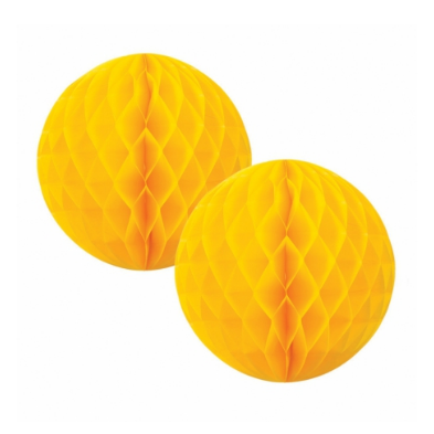 Yellow Honeycomb Ball - 15cm-Palm & Pine Party Co.