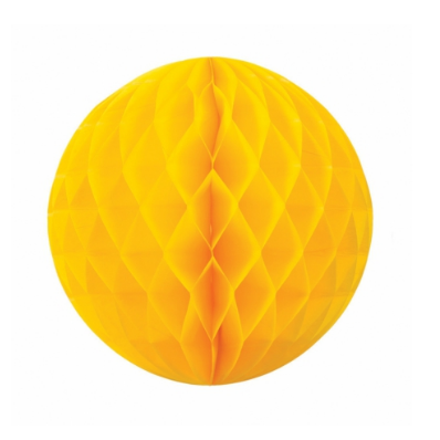 Yellow Honeycomb Ball - 35cm-Palm & Pine Party Co.