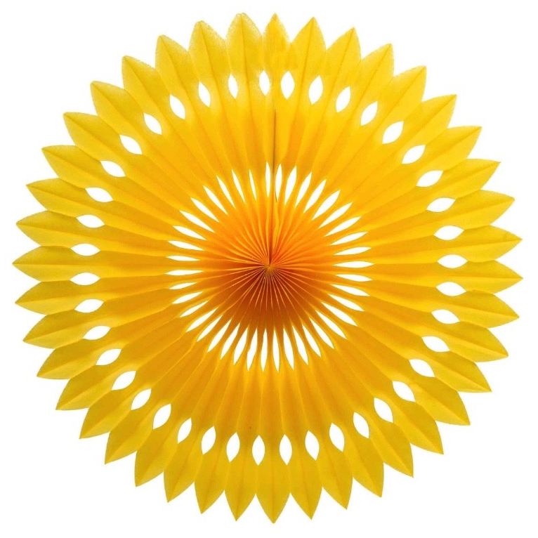 Yellow Honeycomb Fan (40cm)-Palm & Pine Party Co.