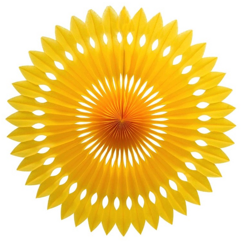 Yellow Honeycomb Fan-Palm & Pine Party Co.