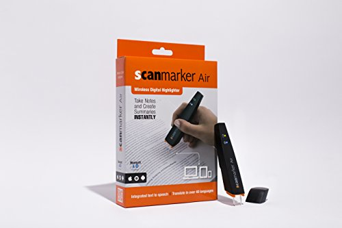 Scanmarker Air Pen Scanner - OCR Digital Highlighter and Reader - Wireless (Mac Win iOS Android) (Black) - successmall