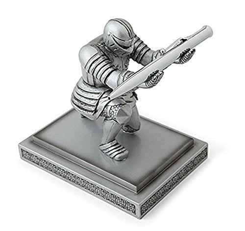 ThinkGeek Executive Knight Pen Holder - Fancy Black-Inked Pen with Refillable Ink Included - A ThinkGeek Creation and Exclusive - successmall