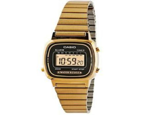 Casio Women's LA670WGA-1DF Digital Gold-tone Watch