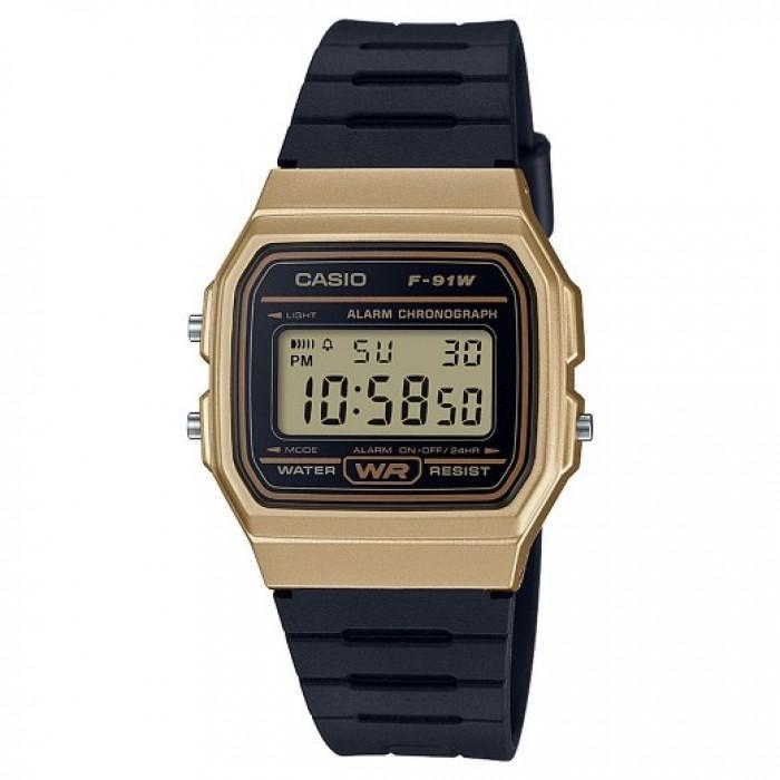 Casio Vintage F91WM-9A Black Resin Strap Watch For Men and Women