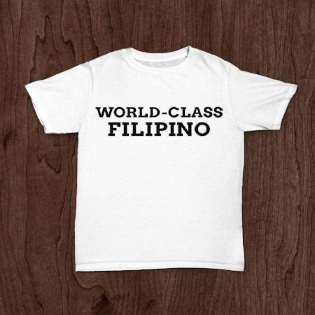 <p>Rebate Points = .38<br/></p>WORLD CLASS FILIPINO T-SHIRT WHITE