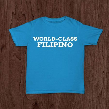 <p>Rebate Points = .38<br/></p>WORLD CLASS FILIPINO T-SHIRT BLUE - successmall