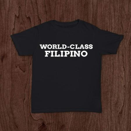 <p>Rebate Points = .38<br/></p>WORLD CLASS FILIPINO T-SHIRT BLACK - successmall