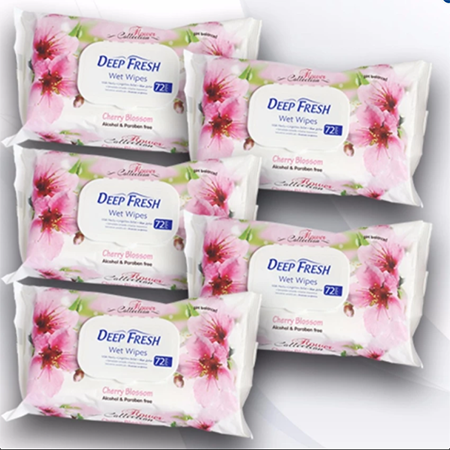 <p>Rebate Points = .95<br/></p>Deep Fresh Flower Collection Wet Baby Wipes w/ Fliptop (Cherry) - successmall