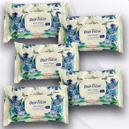 <p>Rebate Points = .95<br/></p>Deep Fresh Flower Collection Wet Baby Wipes w/ Fliptop (Orchid) - successmall