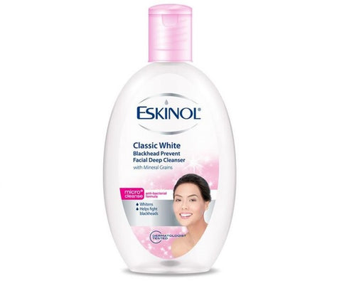 <p>Rebate Points = 0.08<br/></p>ESKINOL DEEP CLEANSER CLASSIC WHITE WITH BLACKHEAD GRAINS 225ML - successmall