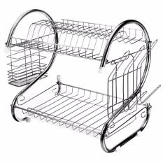 <p>Rebate Points = 0.41  <br /></p> Modern Kitchen Stainless Steel 2-Tier Dish Drying Rack - successmall