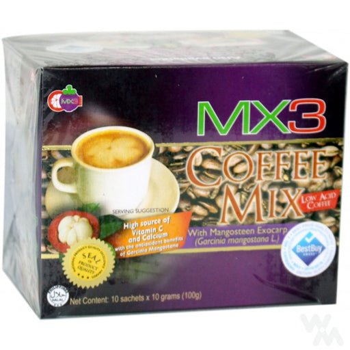 <p>Rebate Points = 0.03  <br /></p> MX3 COFFEE MIX MANGOSTEEN 100G - successmall