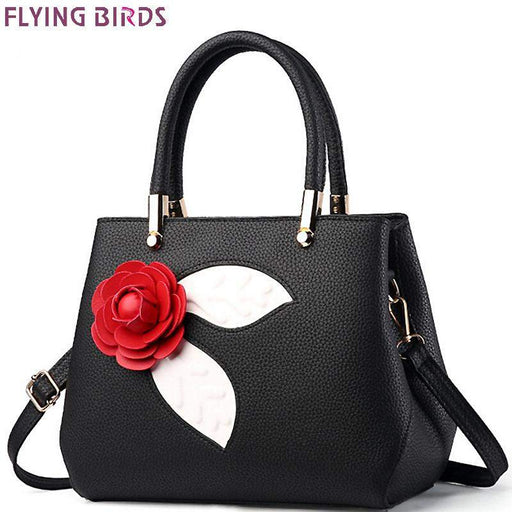 FLYING BIRDS handbag for women leather tote fmaous brands designer messenger bags ladies pouch flower high quality bag LM4136fb
