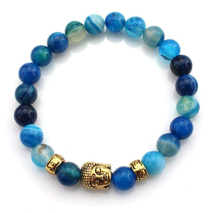 (3 pcs/lot) Natural Stone Buddha Bracelets Hot Sale Multicolor Bracelet Wristband For Women Men Fashion Jewelry Wholesale - successmall