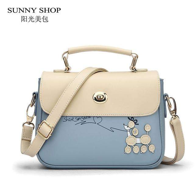 3da2329a829b ... SUNNY SHOP Korean Preppy Style Women School Bags Cute Girls Messenger  Bags Designer Handbags High Quality ...