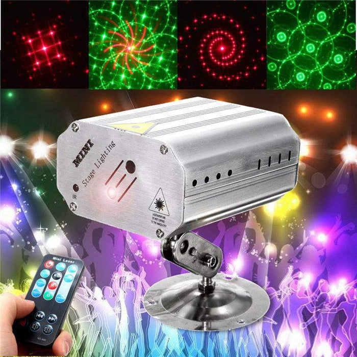 Mini LED RGB Stage Light Projector Laser Stage Lighting Effect Adjustment DJ Disco Party Club KTV Decor Lamp Bulb US EU Plug - successmall