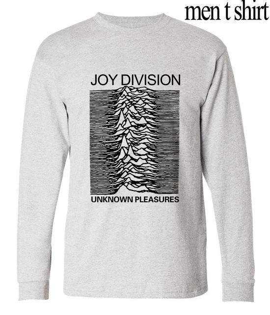 Funny joy Division Unknown Pleasure long sleeve T Shirt Men Rock And Roll tops tees 2017 autumn harajuku fitness brand clothing - successmall
