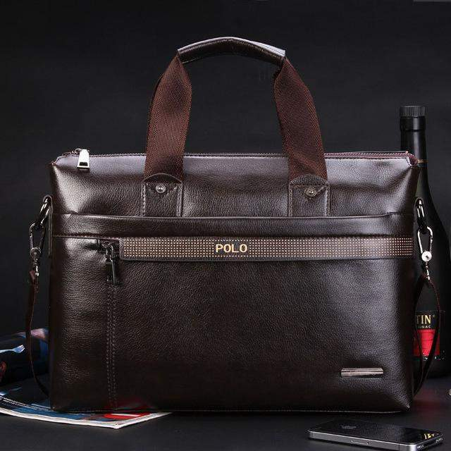 2016 New Fashion Men's bag Famous Brand POLO Shoulder Bag vintage pu leather men Messenger Bags Fashion Men's Briefcase Bags - successmall
