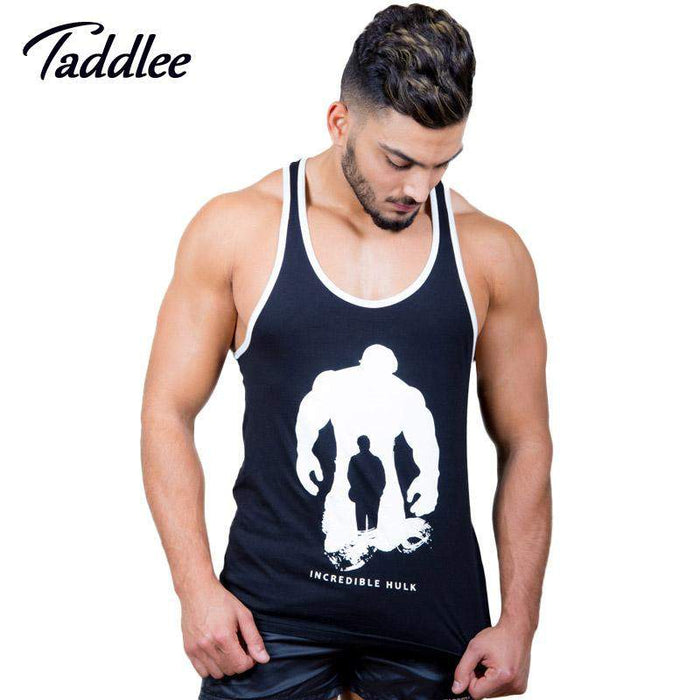 Taddlee Brand Men Tank Top Tees Shirts T shirt Sleeveless Cotton Casual Stringer Singlets Fitness Bodybuilding Undershirt Muscle - successmall
