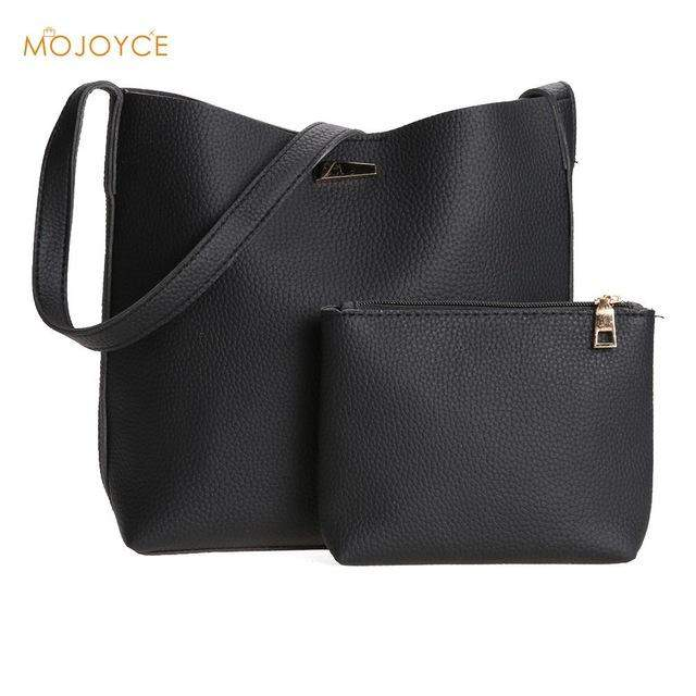 Famous Brand Women Bag Simple Large Tote Handbag Set 2017 Fashion Women Messenger Bags PU Leather Crossbody Bag+Clutch wallets