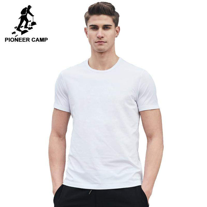 Pioneer Camp 2017 New solid T shirt men brand clothing male T-shirt top quality 100% cotton soft tshirt for men plus size 4XL