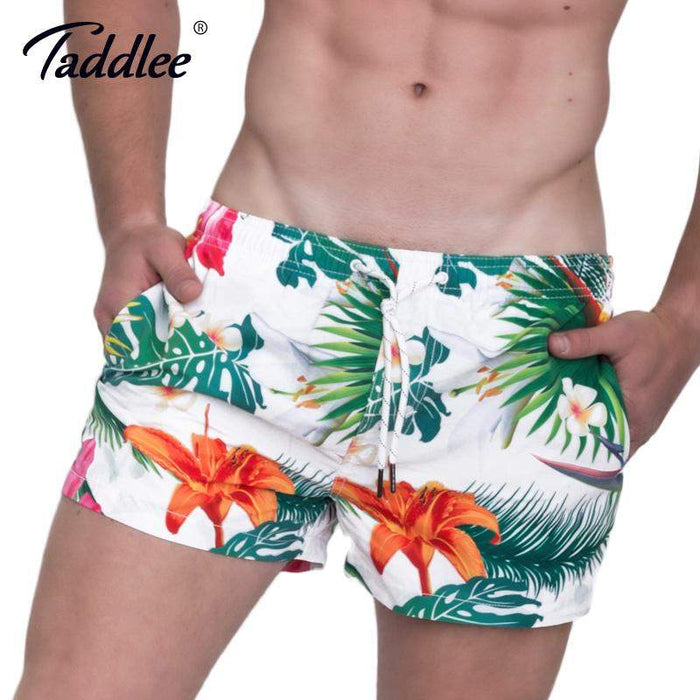 Taddlee Brand Men's Beach Shorts Board Boxer Trunks Shorts Quick Drying Boardshorts Fashion Men Swimwear Swimsuits Sweatpants - successmall