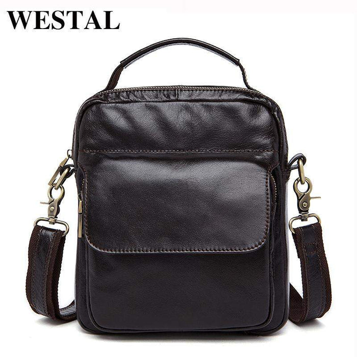 WESTAL Genuine Leather Bag Men Crossbody bags fashion Men's Messenger leather Shoulder Bags handbags Small Travel Male Bag 9073 - successmall