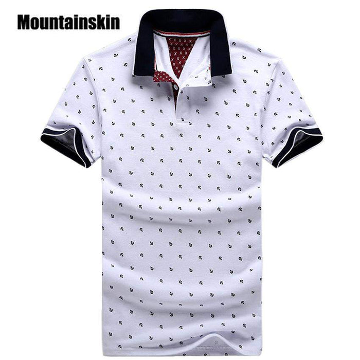 New Brand Polos Mens Printed POLO Shirts 100% Cotton Short Sleeve Camisas Polo Casual Stand Collar Male Polo Shirt 4XL EDA234 - successmall