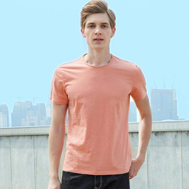 Pioneer Camp New solid T-shirt men brand clothing simple fashion short summer T shirt male top quality stretch Tshirt ADT701177 - successmall