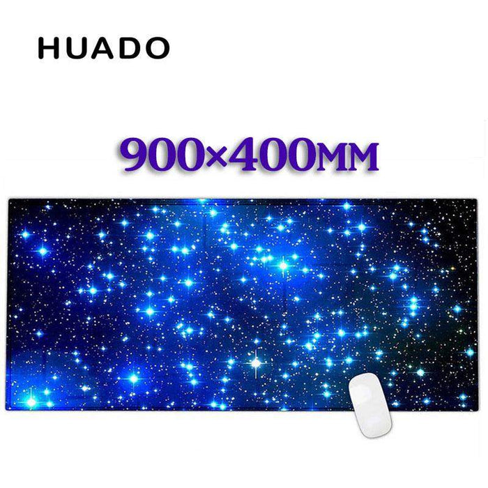 Blue starry sky Rubber Gaming Mouse Pad Desk Mat For PC Laptop Compute