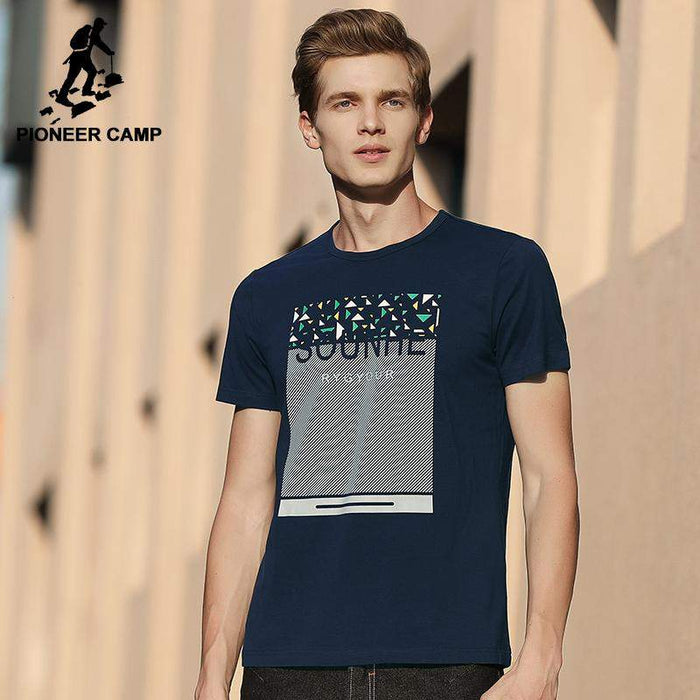 Pioneer Camp hip hop T shirt men brand clothing fashion printed short T-shirt male top quality stretch summer Tees ADT701086 - successmall